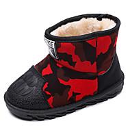 baratos Sapatos de Menino-Para Meninos / Para Meninas Sapatos Couro Ecológico Inverno / Outono & inverno Botas de Neve Botas Caminhada Poa para Infantil / Adolescente Vermelho / Verde / Botas Cano Médio / Estampa Colorida