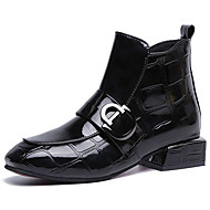 cheap Square Toe Boots-Women's Fashion Boots PU(Polyurethane) Fall Casual Boots Low Heel Booties / Ankle Boots Black