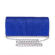 baratos Clutches & Bolsas de Noite-Mulheres Bolsas Poliéster Bolsa de Festa Botões Vermelho / Prateado / Azul Real