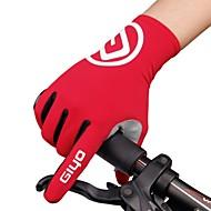 กิจกรรมและถุงมือสำหรับกีฬา ถุงมือขี่จักรยาน ขี่จักรยานปีนเขา Road Cycling กีฬา เต็มนิ้วมือ ระบายอากาศ ป้องกันฉลาม Skidproof สีเหลือง แดง ฟ้า สเปนเดก Lycra ซิลิโคน Road Cycling Multisport