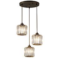 billige -3-Light Krystal Vedhæng Lys Baggrundsbelysning - Krystal, Ministil, 110-120V / 220-240V Pære ikke Inkluderet / 15-20㎡ / FCC