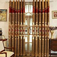 Χαμηλού Κόστους Κουρτίνες-Συσκότιση κουρτίνες κουρτίνες Two Panels 2*(W140cm×L259cm) Κίτρινο / Υπνοδωμάτιο