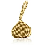 baratos Clutches & Bolsas de Noite-Mulheres Bolsas PU Bolsa de Mão Detalhes em Cristal Dourado / Preto / Prata
