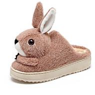 cheap -Women's Comfort Shoes Faux Fur Fall & Winter Slippers & Flip-Flops Flat Heel Round Toe Peach / Almond / Khaki