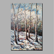 billiga Landskapsmålningar-Hang målad oljemålning HANDMÅLAD - Abstrakt Landskap Klassisk Moderna Inkludera innerram / Sträckt kanfas