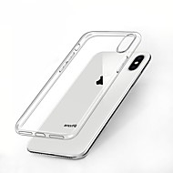 Etui Til Apple iPhone X Stødsikker / Ultratyndt / Transparent Bagcover Ensfarvet Blødt TPU for iPhone X