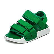 baratos Sapatos de Menina-Para Meninas Sapatos Tecido elástico Verão Conforto Sandálias Caminhada Colchete para Infantil Vermelho / Verde / Rosa Claro