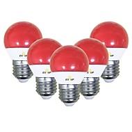 billiga Belysning-EXUP® 5pcs 5 W 450 lm E26 / E27 LED-globlampor G45 12 LED-pärlor SMD 2835 Gulligt / Party / Dekorativ Röd 220-240 V / 110-130 V