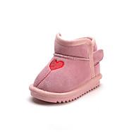 baratos Sapatos de Menina-Para Meninos / Para Meninas Sapatos Camurça Inverno Botas de Neve Botas para Bébé Preto / Cinzento / Rosa claro