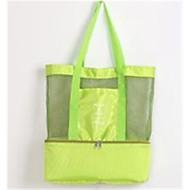 baratos Bolsas Tote-Mulheres Bolsas Tela de pintura Tote Ziper Verde / Preto / Vermelho