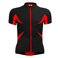 Jaggad Men's Unisex Short Sleeve Cycling Jersey - Red+Black Bike Jersey Top Breathable Quick Dry Sports Polyester Elastane Mountain Bike MTB Road Bike Cycling Clothing Apparel