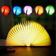 billige Lamper-brelong 1 stk bok rgb natt lys dc5v blå / gylden / rød / gul / brun