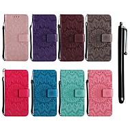 billiga Mobil cases & Skärmskydd-fodral Till LG G6 / G3 Plånbok / Korthållare / med stativ Fodral Blomma Hårt PU läder för LG Leon / LG C40 H340N / LG G7 ThinQ / LG G6