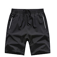 Erkek Temel Büyük Bedenler Şortlar Pantolon - Solid Siyah