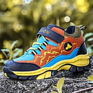 baratos Sapatos de Menina-Para Meninos / Para Meninas Sapatos Couro Ecológico Primavera & Outono / Primavera Conforto Tênis Corrida / Caminhada Cadarço / Combinação / Velcro para Infantil / Adolescente Laranja / Azul
