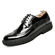 tanie Obuwie męskie-Męskie Skórzane buty PU Jesień Casual Oksfordki Wodoszczelność Czarny / Żółty / Niebieski
