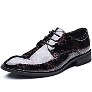 baratos Sapatos de Tamanho Pequeno-Homens Sapatos de vestir Couro Envernizado Outono Oxfords Dourado / Prata / Vermelho