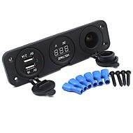 billiga Billaddare för mobilen-Bilar Billaddare 2 USB-portar för 5 V