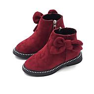 baratos Sapatos de Menina-Para Meninas Sapatos Couro Ecológico Outono & inverno Curta / Ankle Botas para Infantil Preto / Vermelho / Vinho / Botas Curtas / Ankle