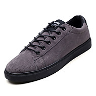 baratos Sapatos Masculinos-Homens Sapatos Confortáveis Couro de Porco / Couro Ecológico Outono Casual Tênis Não escorregar Preto / Cinzento / Khaki