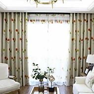 billige Mørkleggingsgardiner-gardiner gardiner Soverom Blomstret / Geometrisk Polyester Trykket
