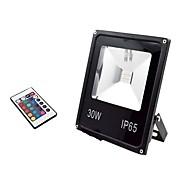 baratos Focos-1pç 30 W Focos de LED Impermeável / Controlado remotamente / Regulável RGB + Branco 85-265 V Iluminação Externa / Pátio / Jardim