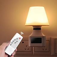 billige Skrivebordslamper-1pc Wall Plug Nightlight AC- Drevet Fjernstyrt / Nytt Design / Verneutstyr 220-240 V