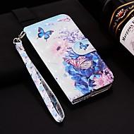 billiga Mobil cases & Skärmskydd-fodral Till Huawei P smart / Enjoy 7S Plånbok / Korthållare / med stativ Fodral Fjäril Hårt PU läder för Huawei P20 / Huawei P20 Pro / Huawei P20 lite / P10 Lite