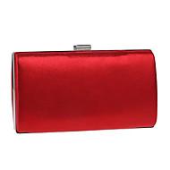 baratos Clutches & Bolsas de Noite-Mulheres Bolsas Poliéster / Liga Bolsa de Festa Botões Preto / Vermelho / Prateado