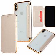 Θήκη Za Apple iPhone XR / iPhone XS Max Utor za kartice / Pozlata / Zaokret Korice Jednobojni Tvrdo PU koža za iPhone XS / iPhone XR / iPhone XS Max