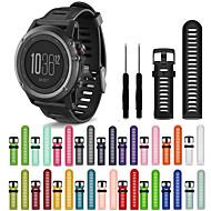billiga Smart klocka Tillbehör-Klockarmband för Fenix 3 HR Garmin Sportband Silikon Handledsrem