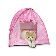 Χαμηλού Κόστους Γάτα Κρεβάτια & Αντικείμενα μεταφοράς-Σκυλιά / Κουνέλια / Γάτες Κρεβάτια Κατοικίδια Καλάθια Πουά Αδιάβροχη / Mini Κίτρινο / Πράσινο / Ροζ Για κατοικίδια
