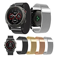 billiga Smart klocka Tillbehör-Klockarmband för Fenix 5x / Fenix 5x Plus / Fenix 3 HR Garmin Milanesisk loop Metall / Rostfritt stål Handledsrem