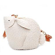 baratos Bolsas de Ombro-Mulheres Bolsas Pele Falsa Bolsa de Ombro Ziper Animal Branco