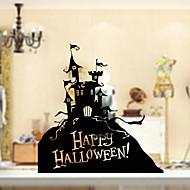 tanie סרטים ומדבקות לחלון-Folie okienne i naklejki Dekoracja Halloween Święto Polichlorek winylu Naklejka okienna