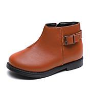 baratos Sapatos de Menina-Para Meninas Sapatos Couro Ecológico Outono & inverno Curta / Ankle Botas para Infantil Preto / Marron / Botas Curtas / Ankle