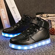 baratos Sapatos de Menino-Para Meninos Sapatos Couro Ecológico Outono Tênis com LED Tênis LED para Branco / Preto / Vermelho