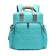 baratos Mochilas-Mulheres Bolsas Tecido Oxford mochila Ziper Azul / Cinzento