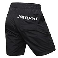 Jaggad สำหรับผู้ชาย Cycling Padded Shorts จักรยาน กางเกงขาสั้น กางเกงขาสั้นถุง MTB Shorts ระบายอากาศ 3D Pad กีฬา สีพื้น เส้นใยสังเคราะห์ Elastane สีดำ ขี่จักรยานปีนเขา เสื้อผ้าถัก Cycling Clothing