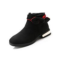 baratos Sapatos de Menina-Para Meninas Sapatos Couro Ecológico Outono & inverno Curta / Ankle Botas para Infantil Preto / Rosa claro / Vinho / Botas Curtas / Ankle