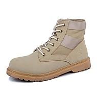 cheap Men's Boots-Men's Combat Boots Canvas Fall Classic / British Boots Massage Black / Gray / Khaki
