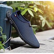 baratos Sapatos de Tamanho Pequeno-Homens Sapatos Confortáveis Com Transparência Verão Mocassins e Slip-Ons Preto / Cinzento / Azul