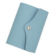 Χαμηλού Κόστους Card & ID Holder-PU Συμπαγές Χρώμα Θήκη για κάρτα & ταυτότητα Μονόχρωμο Συμπαγές Χρώμα Βαθυγάλαζο / Ουρανί / Ροζ