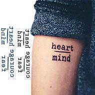 billiga Temporära tatueringar-10 pcs tillfälliga tatueringar Meddelande Serie Ny Design / Originella Body art Ansikte / arm / handled / Tattoo Sticker