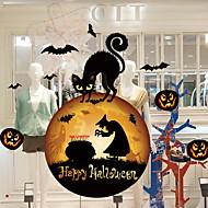 billige Dekorasjon-Vindufilm og klistremerker Dekorasjon Halloween Geometrisk / Ferie PVC Kul