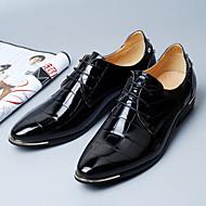 baratos Sapatos de Tamanho Pequeno-Homens Sapatos formais Microfibra Primavera Negócio Oxfords Preto / Vermelho / Azul