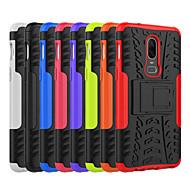 billiga Mobil cases & Skärmskydd-fodral Till OnePlus OnePlus 6 / OnePlus 5T Stötsäker / med stativ Skal Tegel / Rustning Hårt PC för OnePlus 6 / One Plus 5 / OnePlus 5T