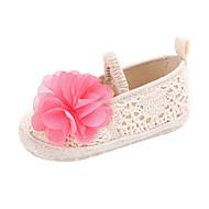baratos Sapatos de Menina-Para Meninos / Para Meninas Sapatos Tricô Primavera & Outono Conforto / Primeiros Passos Rasos Flor / Elástico para Bebê Cinzento / Vermelho / Rosa claro