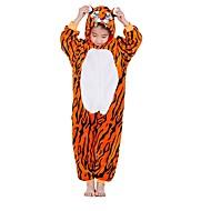 Enfant Pyjamas Kigurumi Tiger Combinaison de Pyjamas Flanelle Orange Cosplay Pour Garçons et filles Pyjamas Animale Dessin animé Fête / Célébration Les costumes / Rayure
