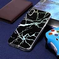 billiga Mobil cases & Skärmskydd-fodral Till Apple iPhone XR / iPhone XS Max Plätering / Mönster Skal Marmor Mjukt TPU för iPhone XS / iPhone XR / iPhone XS Max